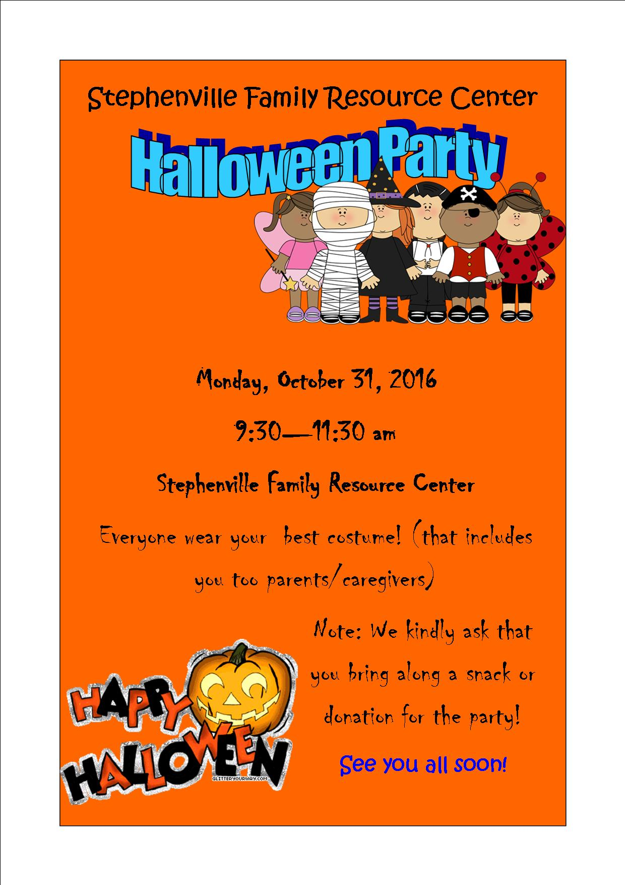 You're Invited…FRC Halloween Party! | The Community Education Network
