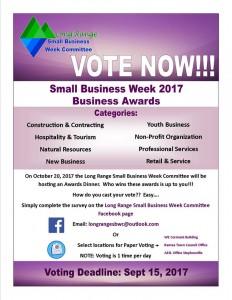 Long Range Business Week nomination poster